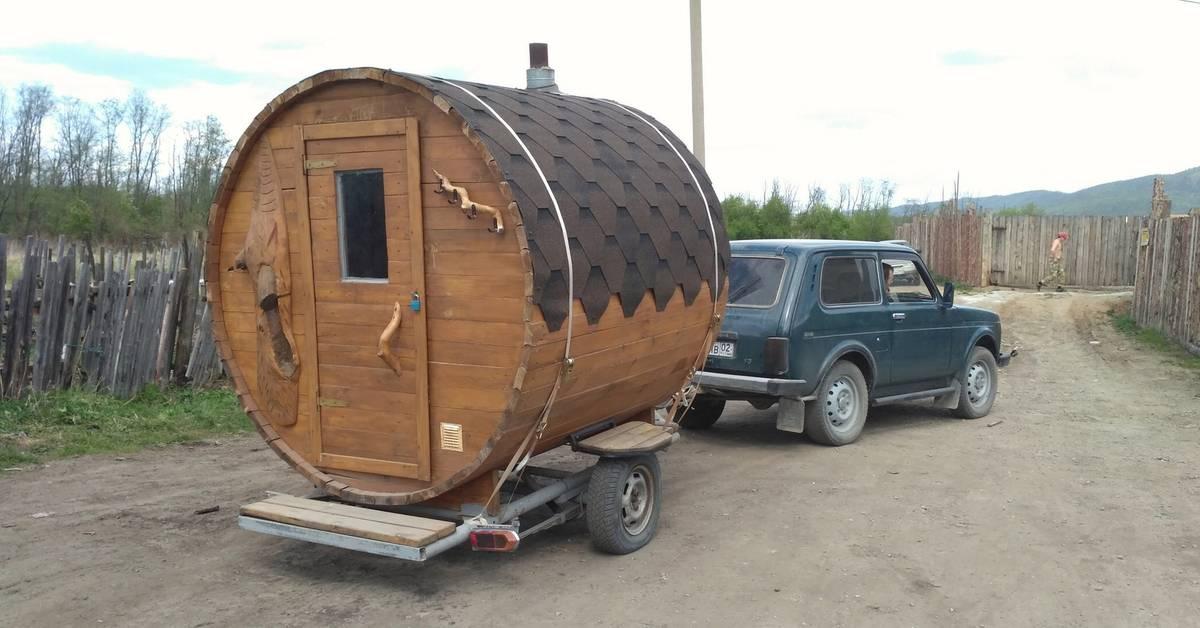 Баня на колесах своими руками - строительство бани на колесах (+фото)   стройсоветы