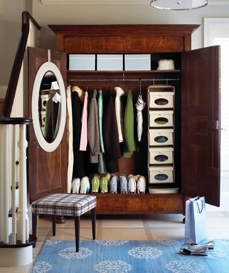 10 идей для хранения в маленькой прихожей