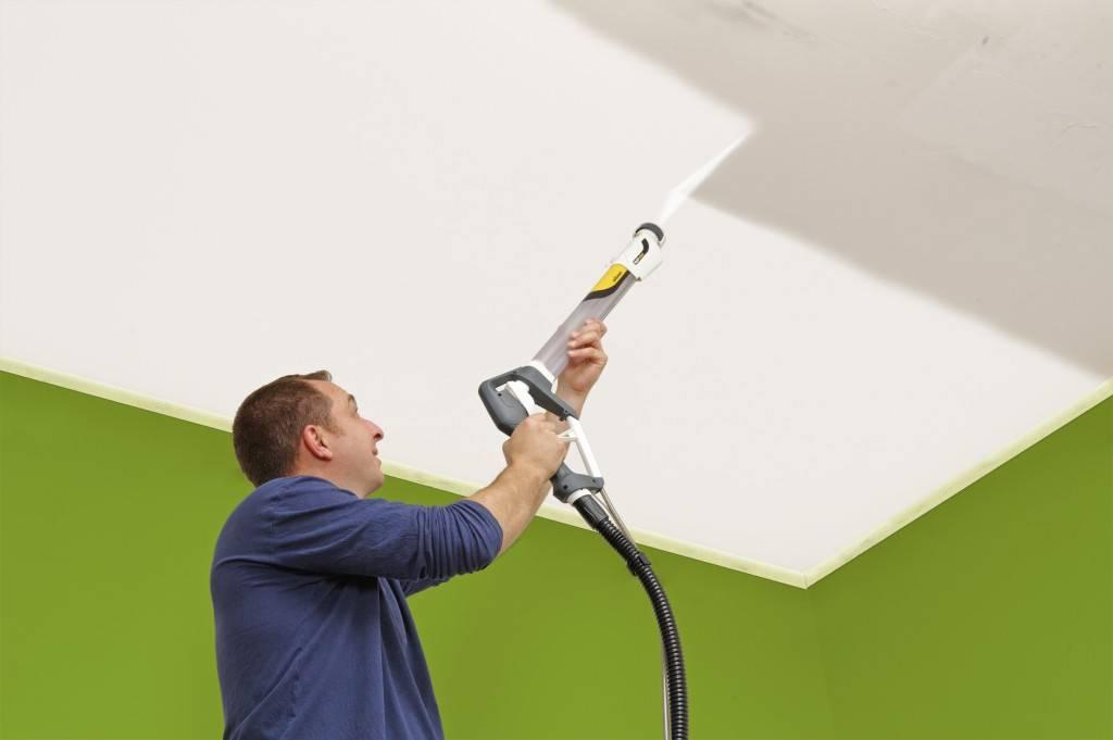 Покрасить потолок своими руками, фотографии и видео
