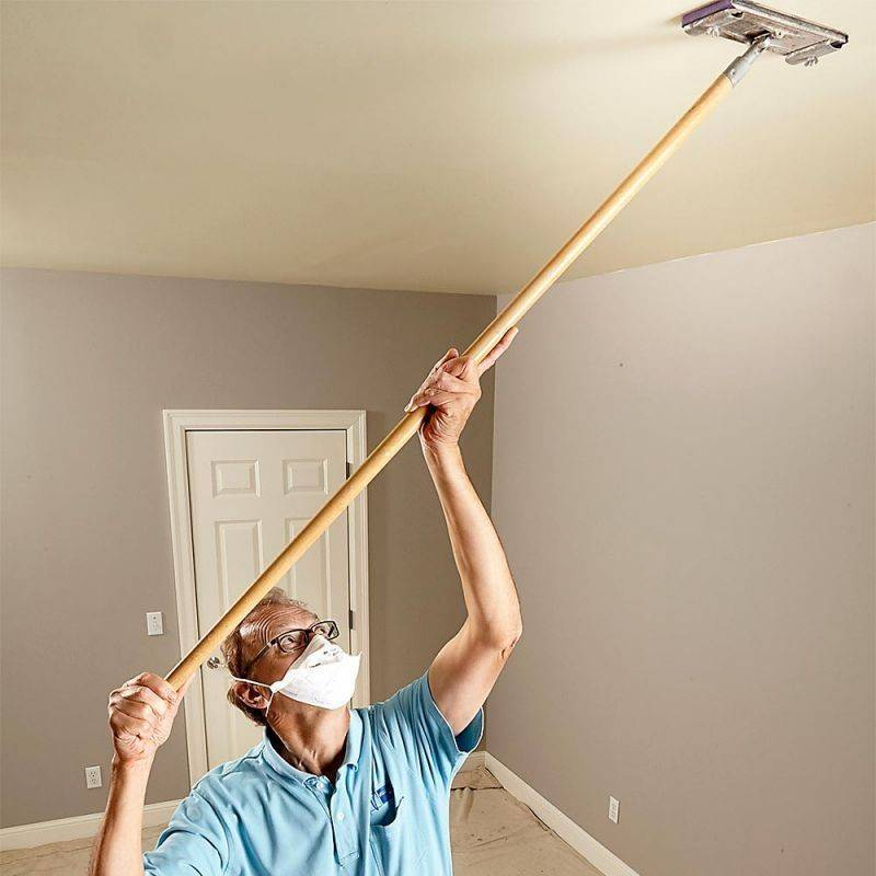 Помыть потолок, окрашенный водоэмульсионкой - быстро и без проблем