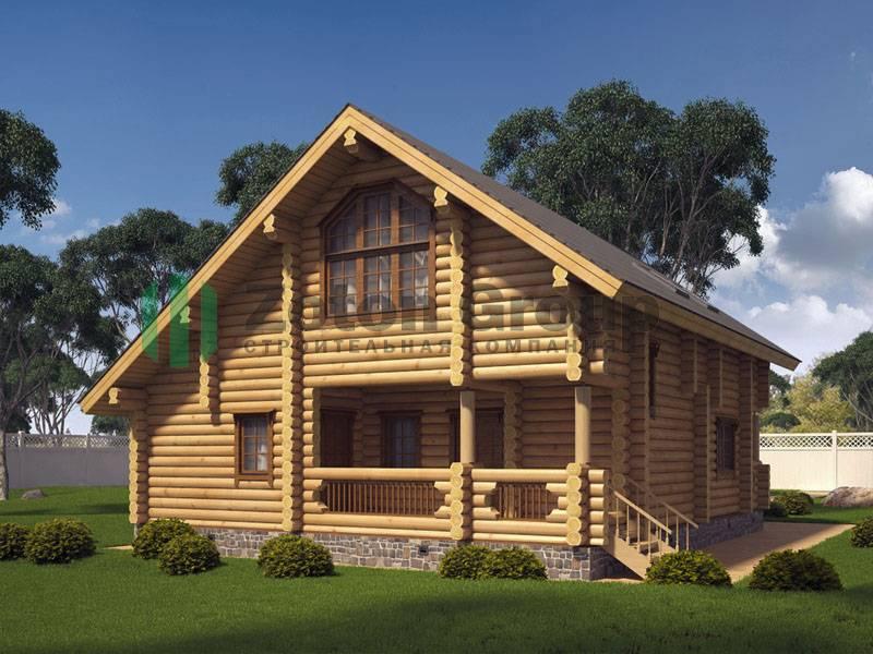 Проекты бань из бревна (82 фото): дом с банькой из оцилиндрованного сруба, чертежи рубленных бань 6х6