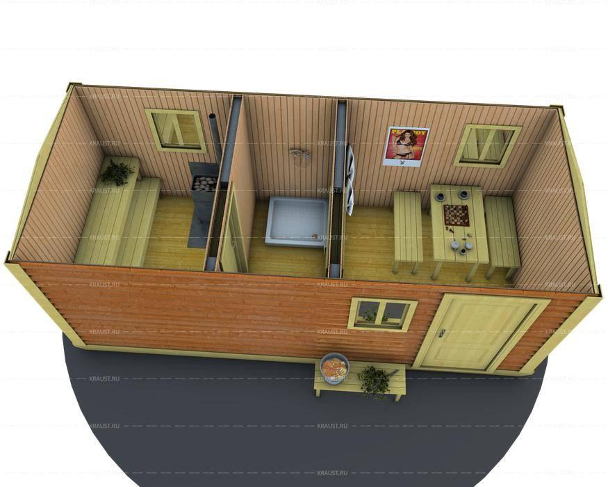 Баня из контейнера: проекты, как построить и особенности