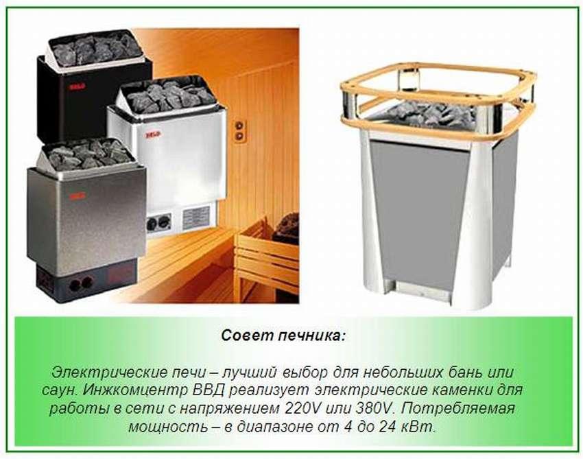 Электрическая печь для сауны энергоэффективная, с парогенератором, сколько потребляет устройство