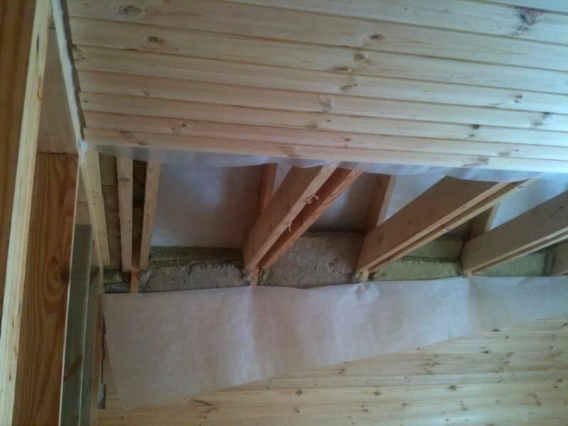 Потолок в бане, как сделать своими руками