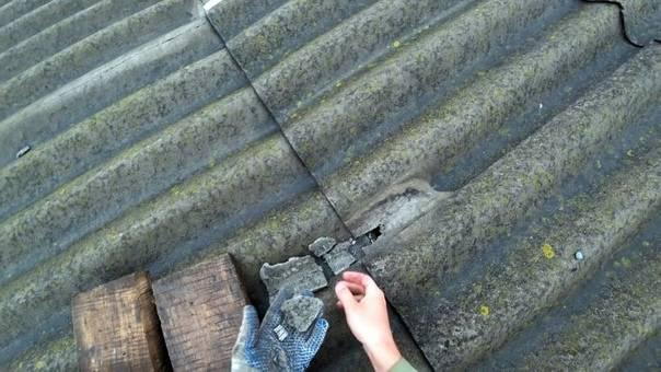 Как отремонтировать дефекты крыши из шифера?