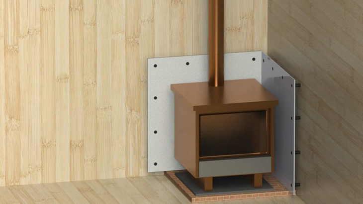 Чем изолировать печь от деревянной стены - строим баню или сауну