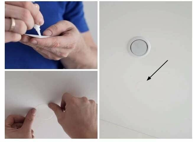 Как заделать дырку в натяжном потолке? как починить потолок своими руками и что нужно делать, как и чем можно заклеить дыру