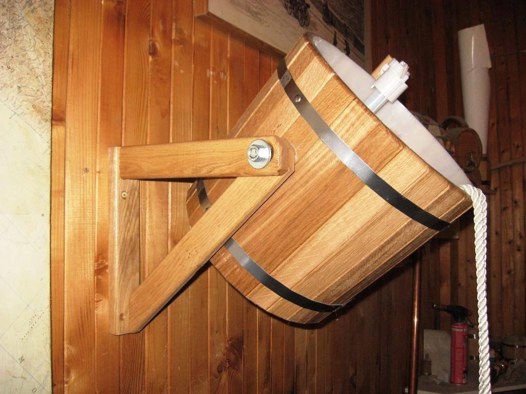 Обливное ведро для бани, варианты форм и размеров, советы по выбору