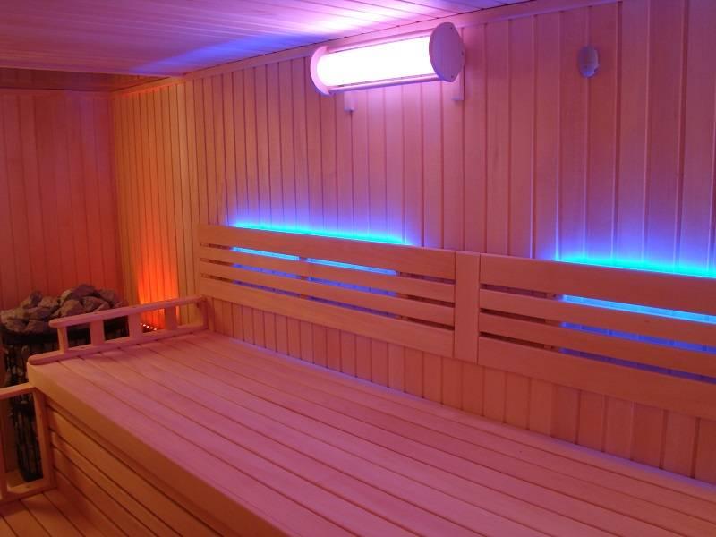Освещение в бане — каким должен быть свет?