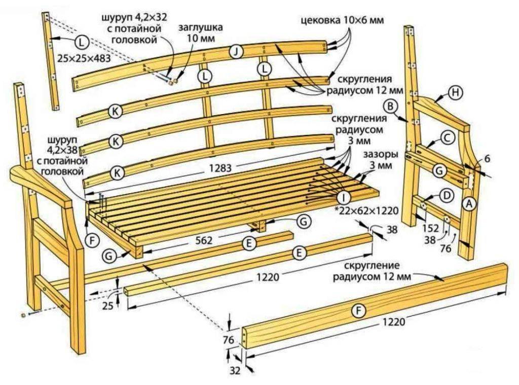 Особенности изготовления лавки в баню своими руками