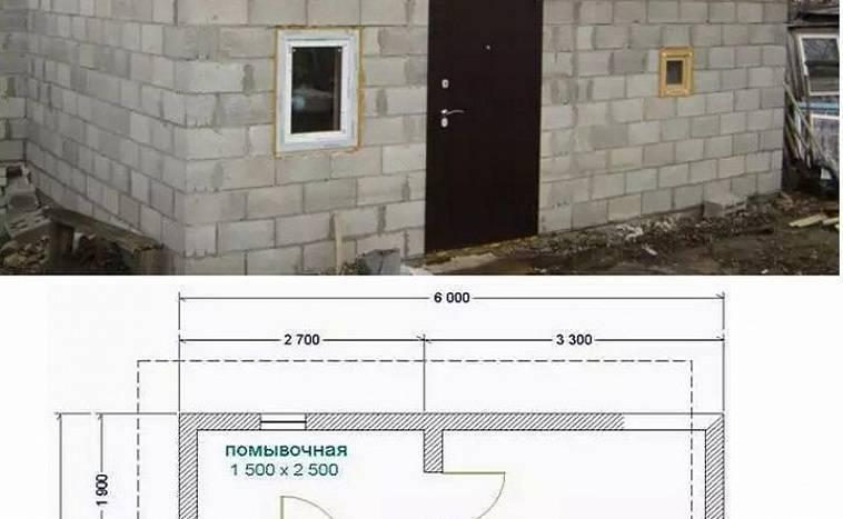Баня своими руками из блоков — керамзитобетонных, газосиликатных: плюсы и минусы материала, пошаговая инструкция с фото и видео проекта