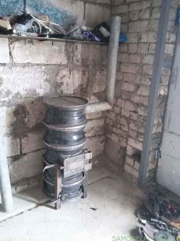 Самодельная печь на отработке: чертежи для изготовления, принцип работы