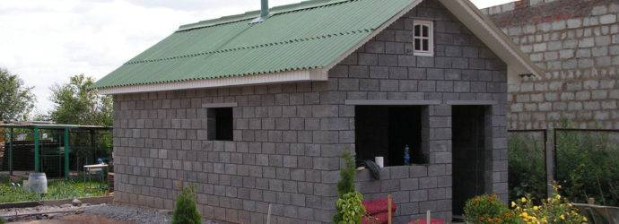 Баня из керамзитобетонных блоков своими руками: пошаговая инструкция