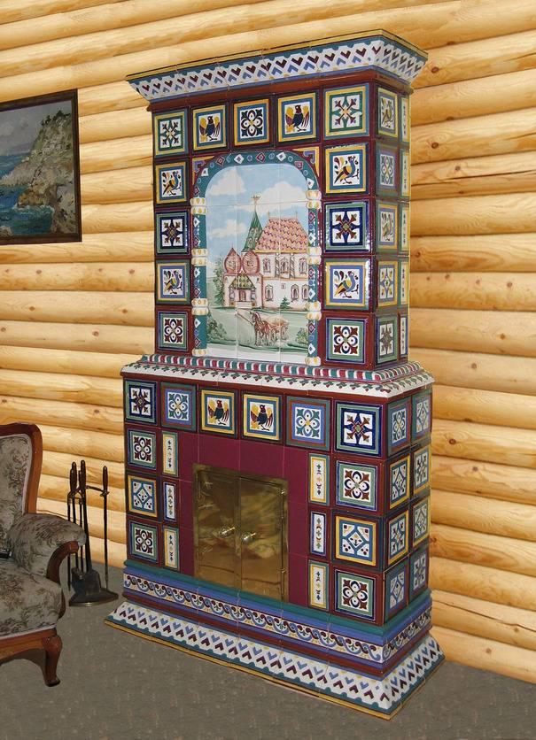 Изразцы для печи (57 фото): что это такое, как называется облицованная модель, виды печных украшений для комнатных русских печей и каминов