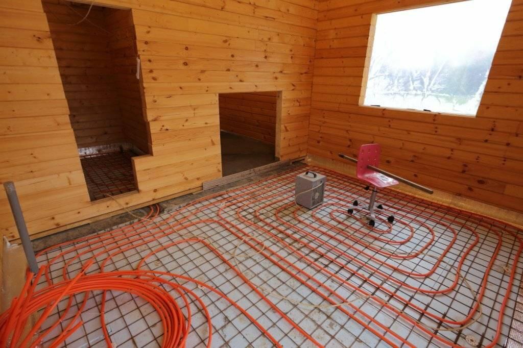 Как сделать теплый водяной пол в бане? нюансы установки, советы по использованию