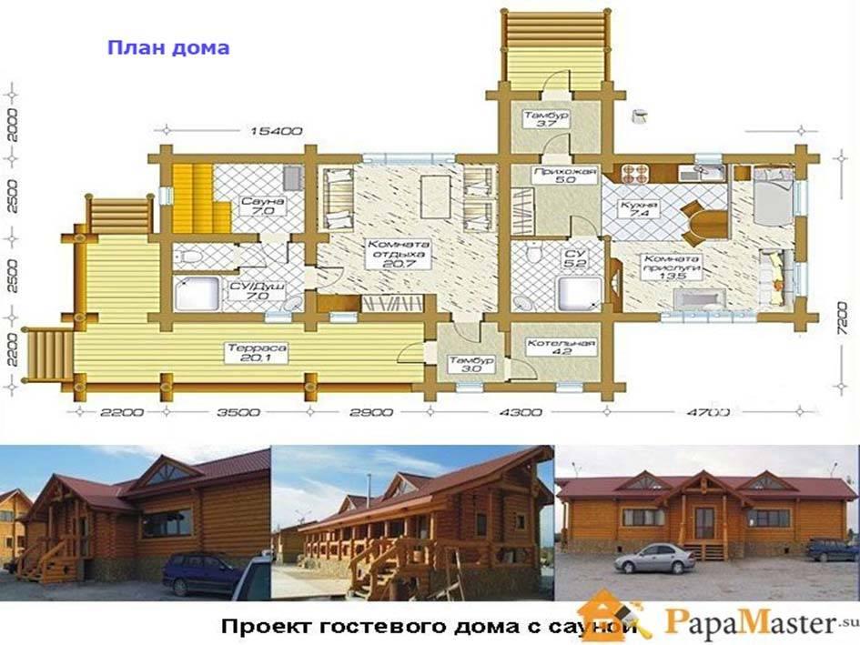 Баня и дом под одной крышей