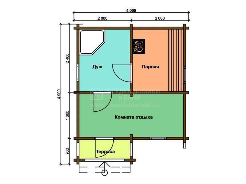 Планировка бани размером 4х4 (32 фото): план расположения мойки и парилки отдельно, баня из бревна размером 4х4 вместимостью на 4 человека