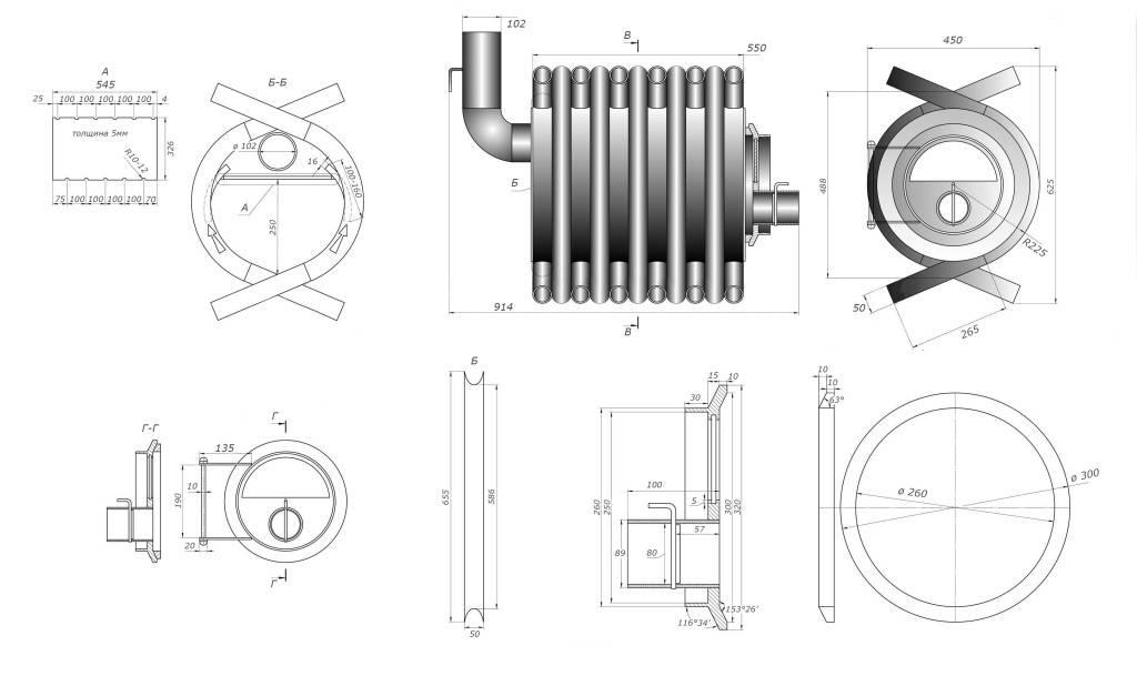 Печь с водяным отоплением бренеран акватэн аотв-11 тип 01