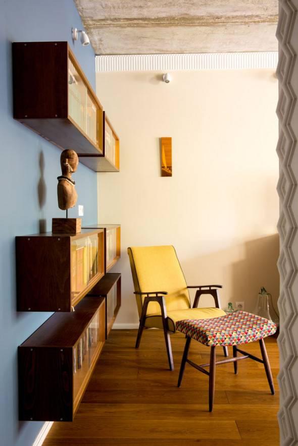Советская мебель в современном, новом интерьере квартиры или частного дома