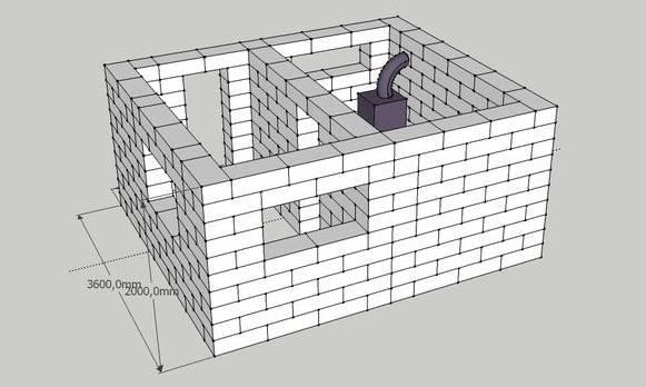 Баня из шлакоблока своими руками: схема, пошаговая видеоинструкция
