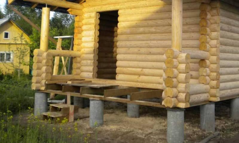 Как построить столбчатый фундамент для бани своими руками?