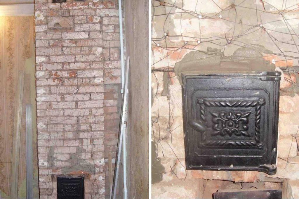 Стена за или около камина или печи — чем отделывать?