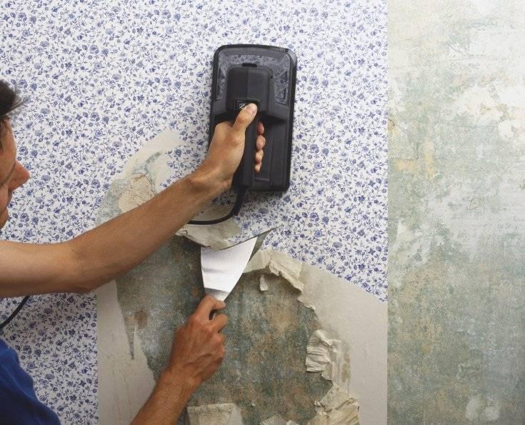 Как удалить старые обои с бетонных стен