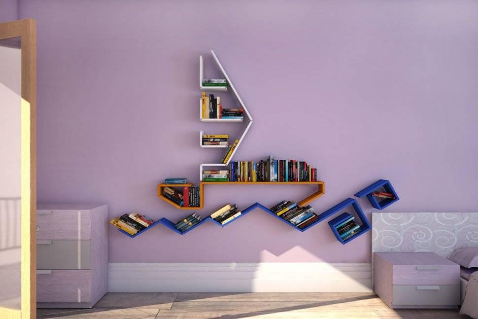 Полки на стену: 70+ фото в интерьере, идеи дизайна