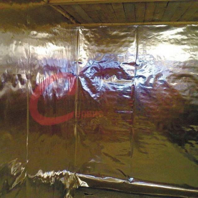 Утеплитель с фольгой для стен