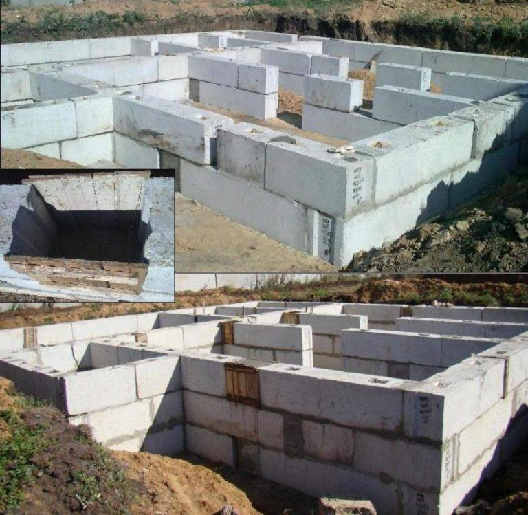 Монтаж фундаментных блоков (фбс): выполнение работ
