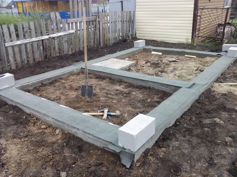 Фундамент для бани (72 фото): какой лучше выбрать, столбчатый и на винтовых сваях, ленточный вариант, строительство своими руками под баню из блоков 4х6