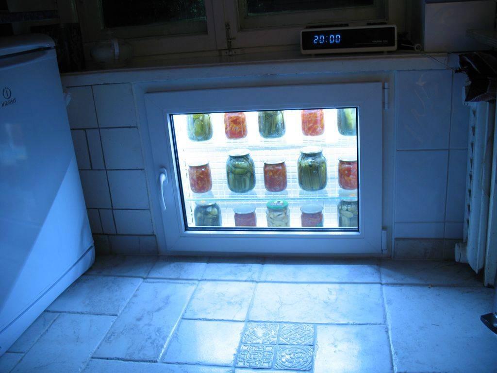 Холодильник под окном из пластика: стоимость работ и цена материала