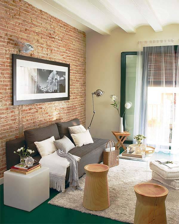 Кирпичная стена, обои под кирпич в интерьере: советы дизайнеров