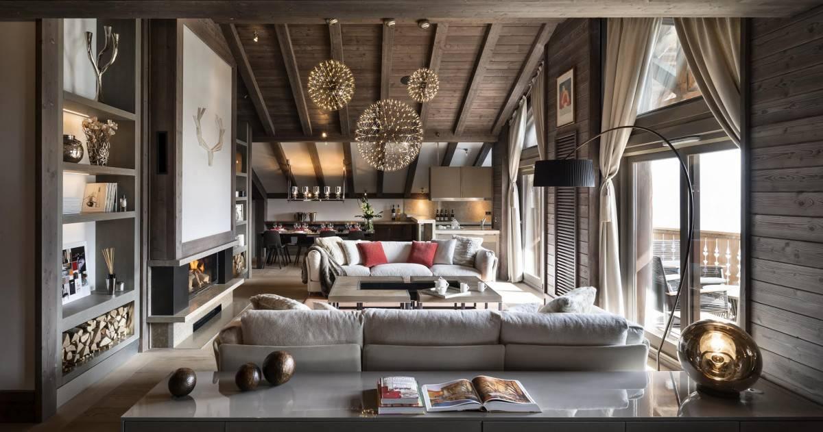 Спальня в стиле шале (40 фото): дизайн интерьера спальной комнаты в доме