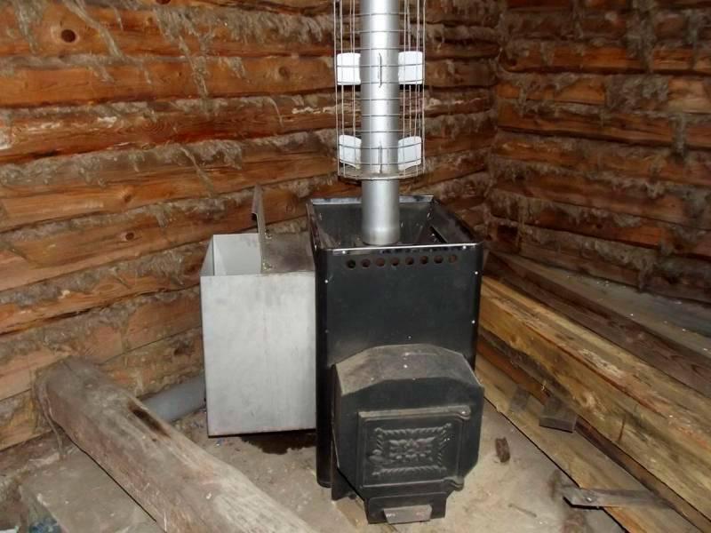 Печи для бань с баками для воды: описание конструкций, фото