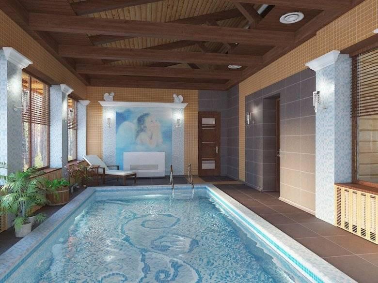 Проектирование и строительство бани с бассейном под одной крышей