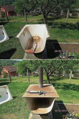 Как сделать печь из старой чугунной ванны своими руками