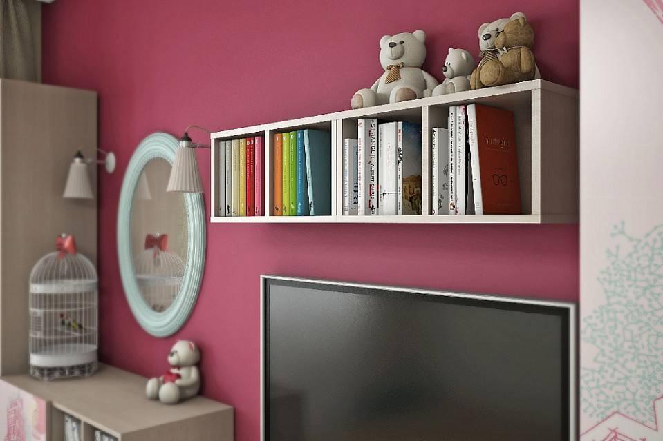 Полки в детскую комнату - 45 фото необычных идей оформления в интерьере