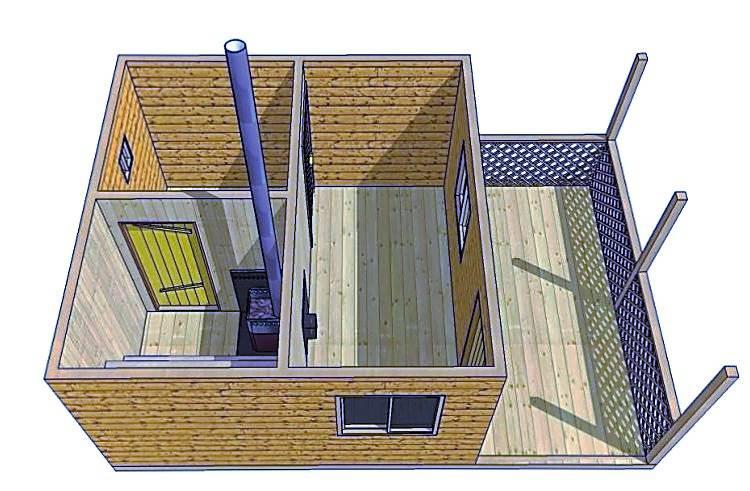 Из чего и как построить простую баню на даче?