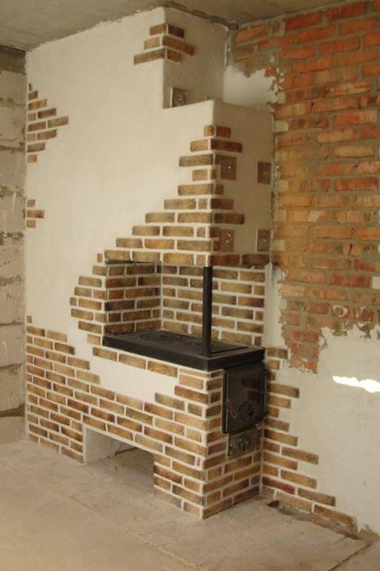 Облицовка печи в бане: разбираем как сделать отделку керамической плиткой, декоративным камнем и штукатуркой