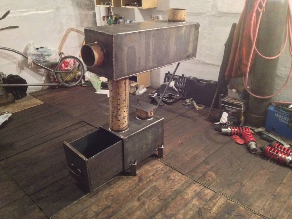 Дизельная печка для гаража — выбор и изготовление своими руками
