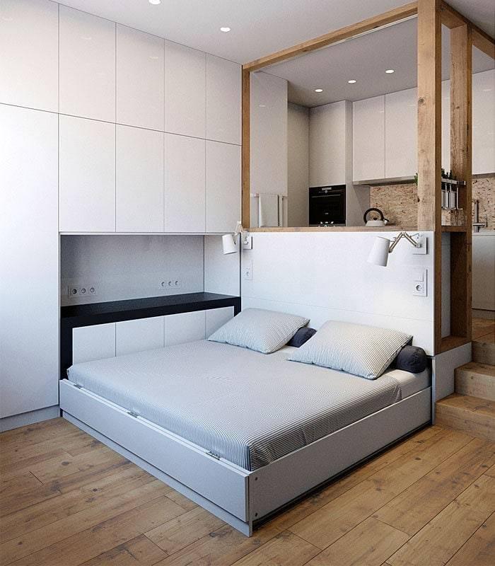 Кровать в нише: 130 фото вариантов дизайна особого спального места