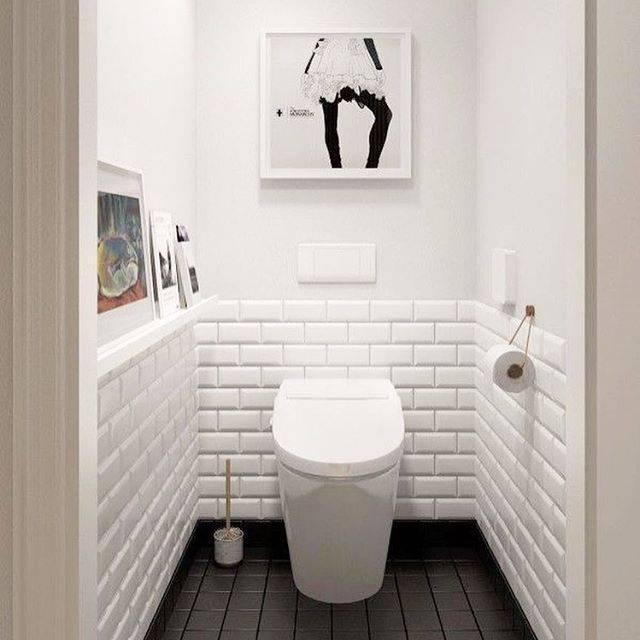 Дизайн туалета – современные идеи на 2018 год с фото