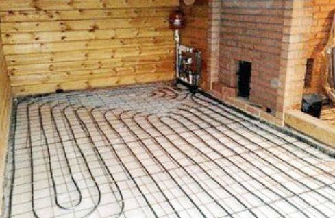 Технология изготовления электрического и водяного теплого пола в бане