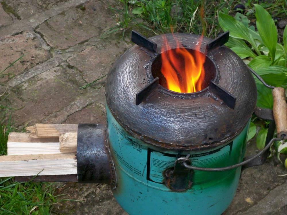 Как своими руками сделать походную печь