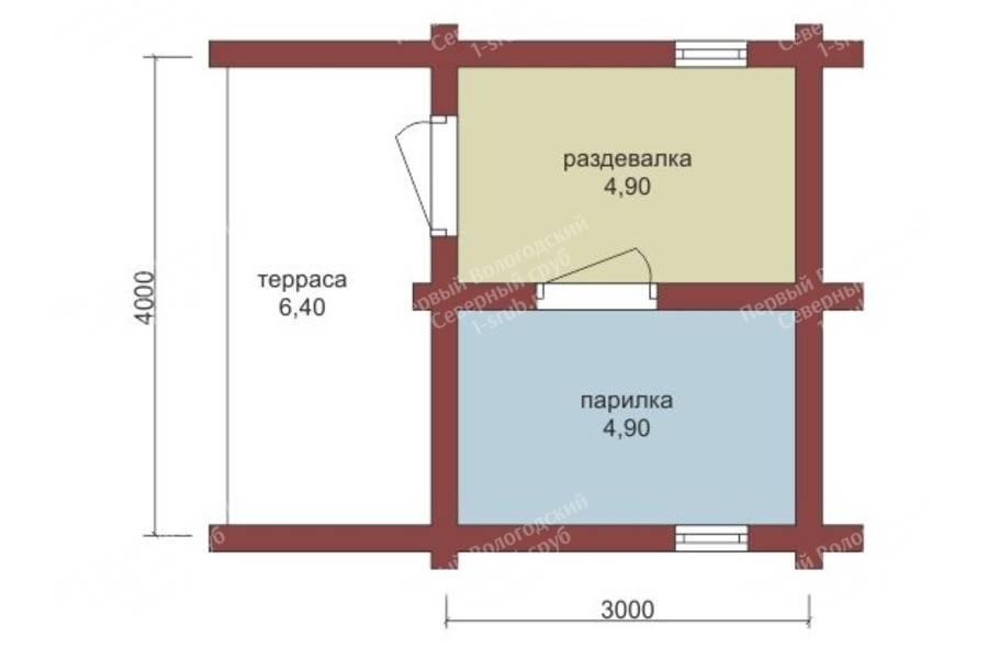 Проект бани 3 на 4 из бруса своими руками, планировка внутри и снаружи, фото, цены