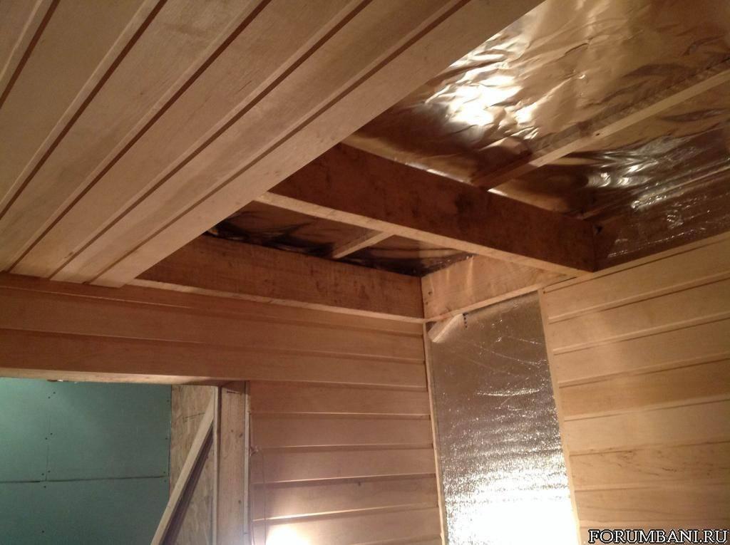 Потолок в бане своими руками: пошаговое руководство как сделать правильно настильный и подшивной потолки в бане из сруба и других стеновых материалов
