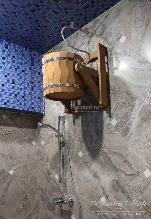 Обливное ведро-водопад для бани: как сделать обливное устройство