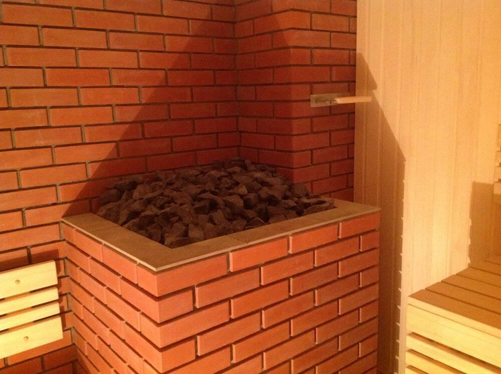 Как обложить кирпичом железную печь в бане своими руками: советы и схемы укладки + фото