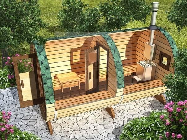 Изготовление мини-бани своими руками на даче